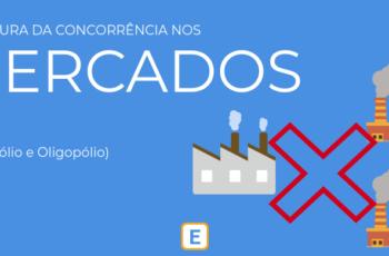 ESTRUTURA DA CONCORRÊNCIA NOS MERCADOS (MONOPÓLIO E OLIGOPÓLIO).