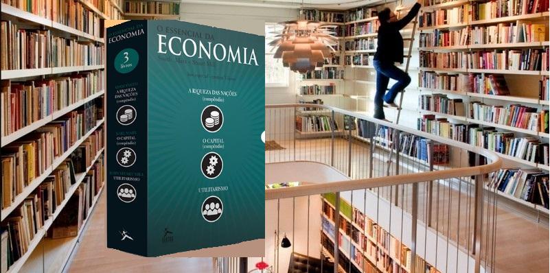 Biblioteca em casa, o essencial da economia.
